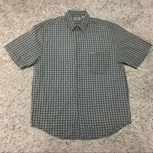 Guess textured weave button up collared shirt